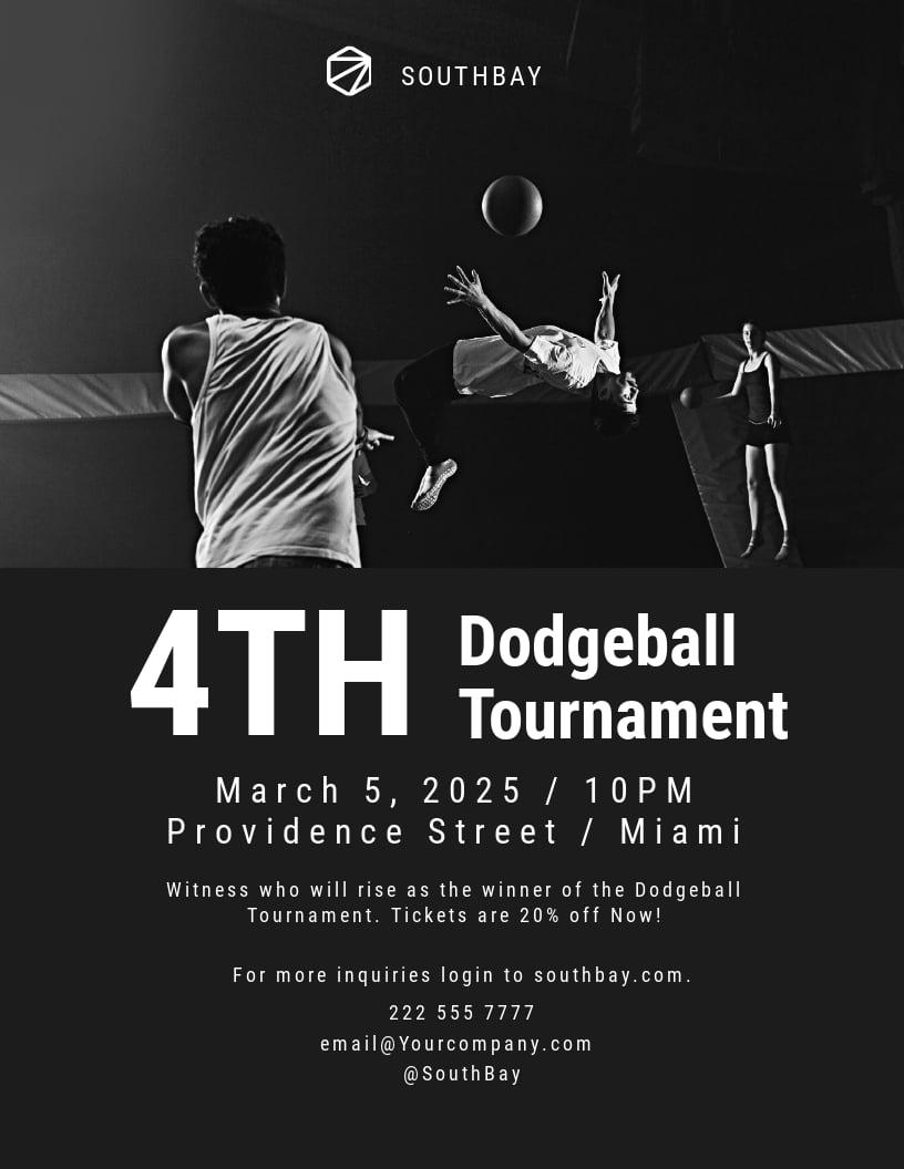 Dodgeball Tournament Flyer Template.jpe