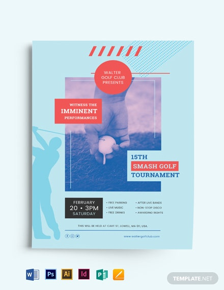 modern golf flyer template