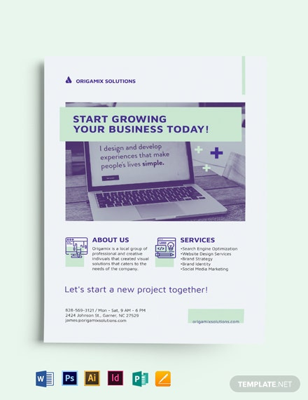 Modern Small Business Flyer Template