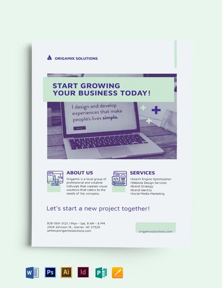 Modern Small Business Flyer Template