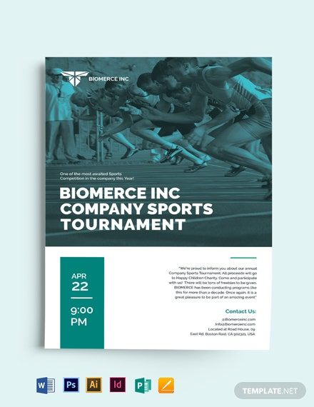 Modern Tournament Flyer Template