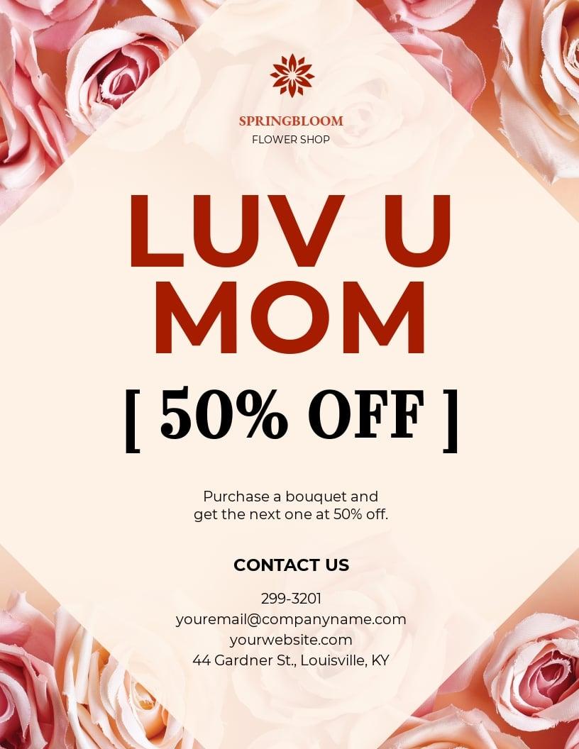 Mothers Day Florist Shop Flyer Template