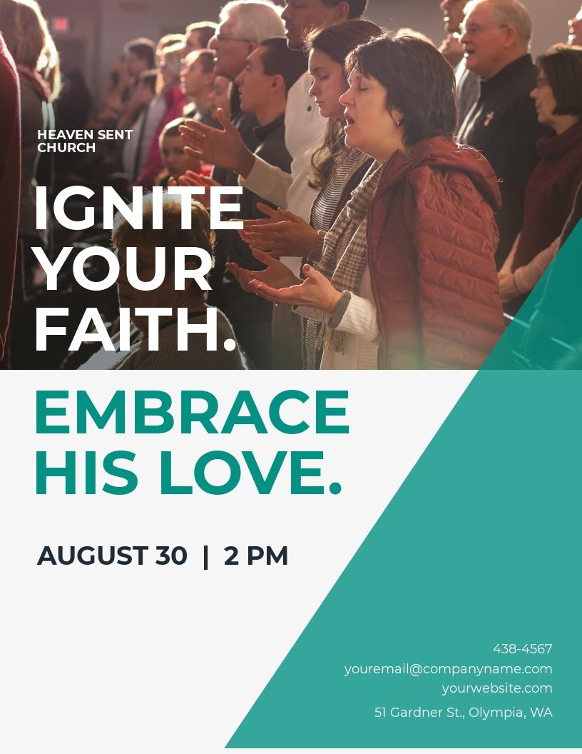 Motives Church Flyer Template