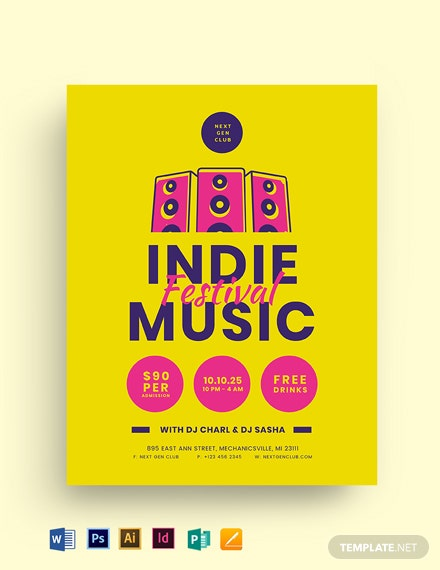 Indie Music Festival Flyer Template