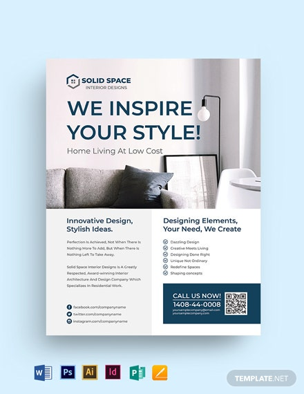 Interior Architect Flyer Template