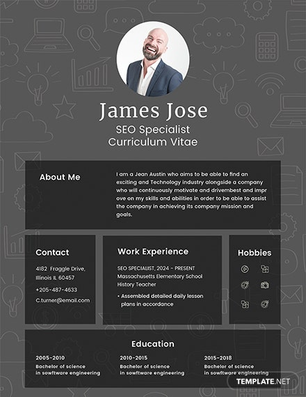 Free SEO Resume Template
