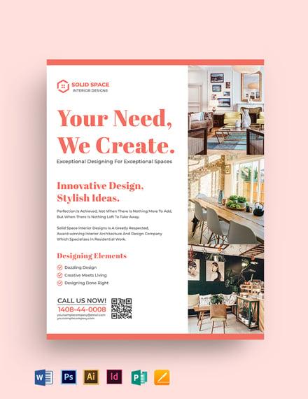 Interior Decorator Flyer Template