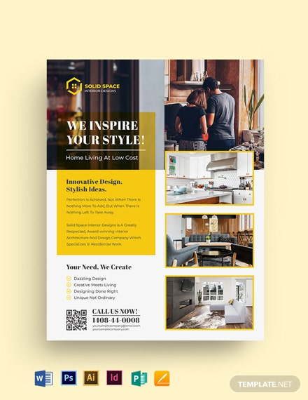Interior Design Company Flyer Template