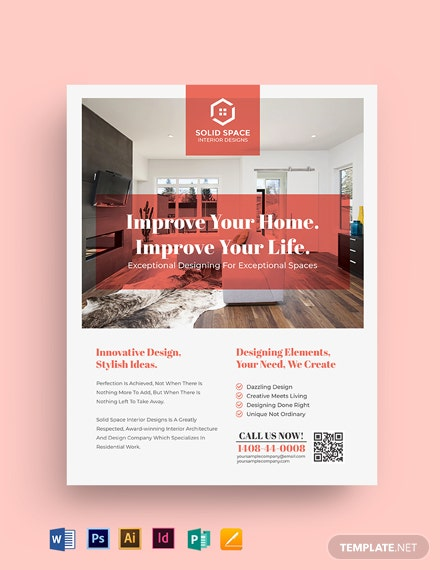 34+ Interior Design Flyer Templates - Word, PSD, AI, Vector ...