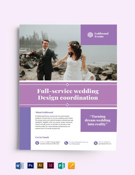 Wedding Event Flyer Template