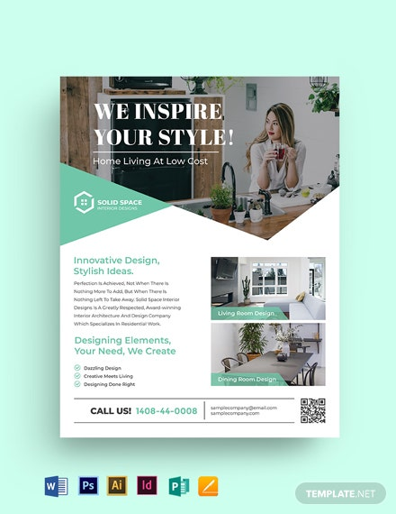 Interior Studio Flyer Template
