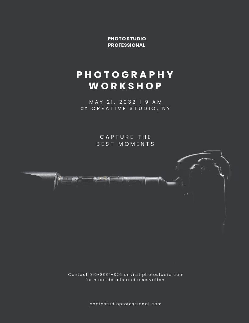 Minimalistic Photography Flyer Template.jpe