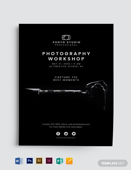 Minimalistic Photography Flyer Template