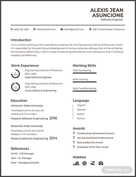 Free Software Quality Engineer Cv Template Download 200 Resume