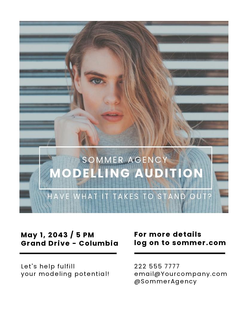 Models Agency Flyer Template