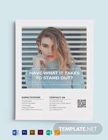 Models Agency Flyer Template