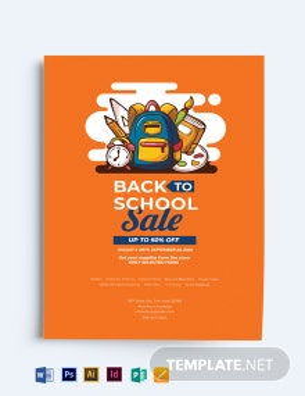 Modern Back to School Flyer Template