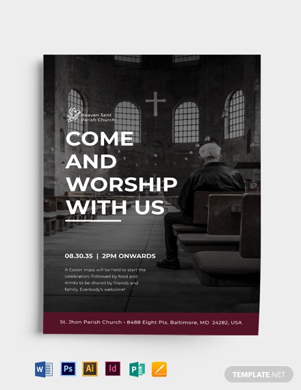 Modern Easter Church Flyer Template