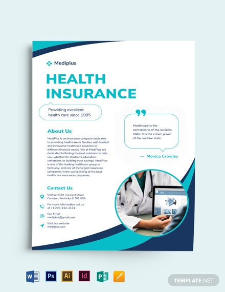 Health Insurance Company Flyer Template