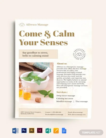 Massage Salon Flyer Template