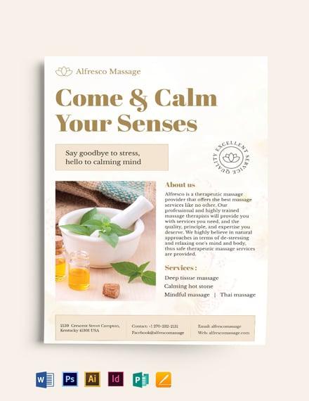 Massage Salon Flyer Template