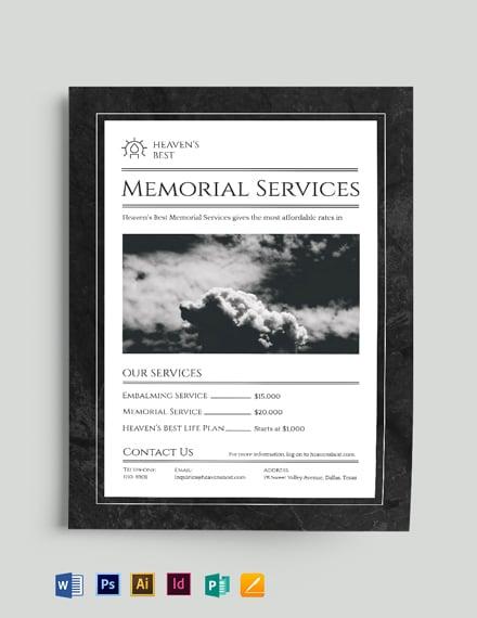 memorial flyer template