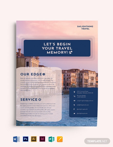 Travel Company Flyer Template