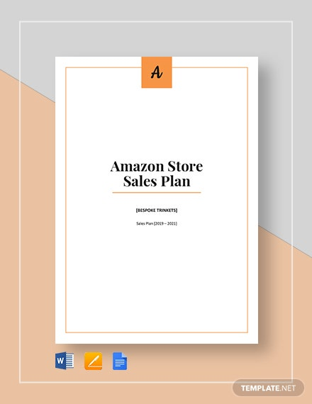 amazon store sales plan