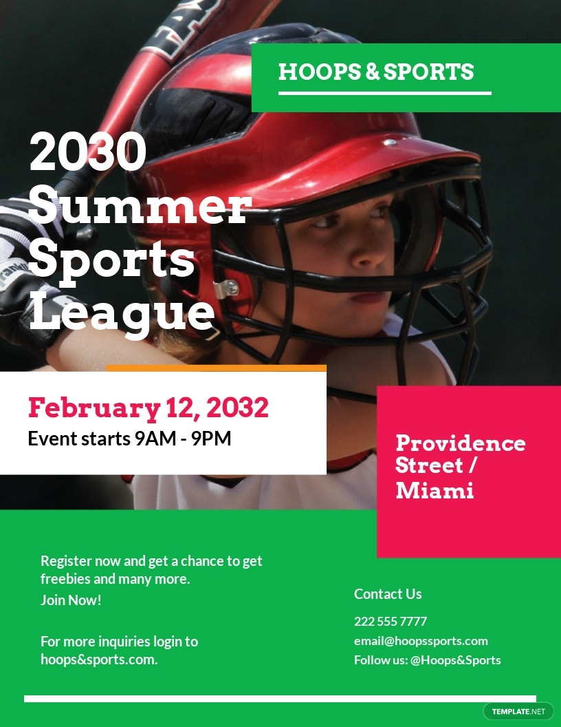 Summer Sports Event Flyer Template