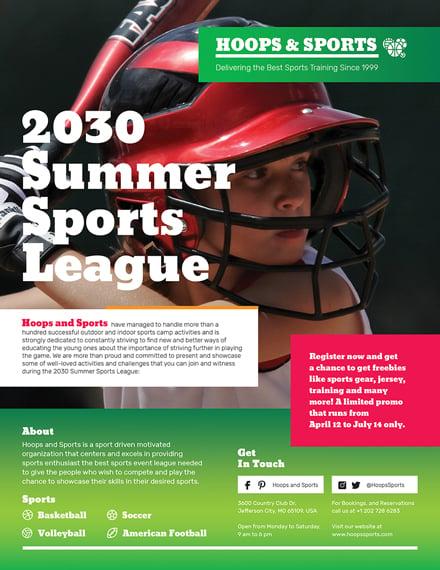 Summer Sports Event Flyer Template