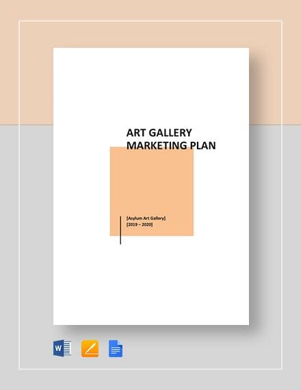 Art Gallery Marketing Template