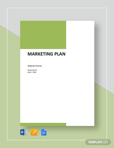 Basic Marketing Plan Template