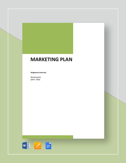 Basic Marketing Plan Template