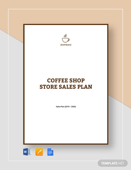 cafe coffee shop sales plan