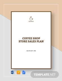 Cafe/Coffee Shop Sales Plan Template