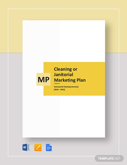 cleaning or janitorial marketing plan