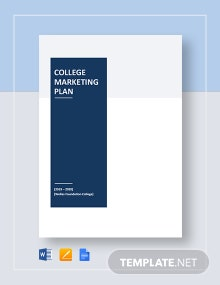 College Marketing Plan Template
