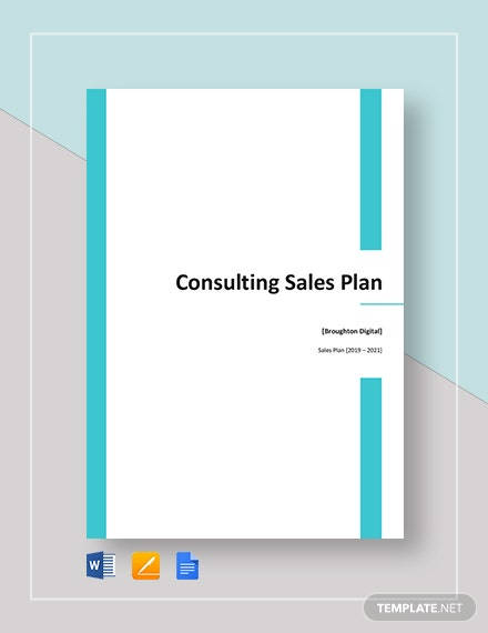 Consulting Sales Plan