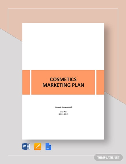 Cosmetics Sales Plan Template