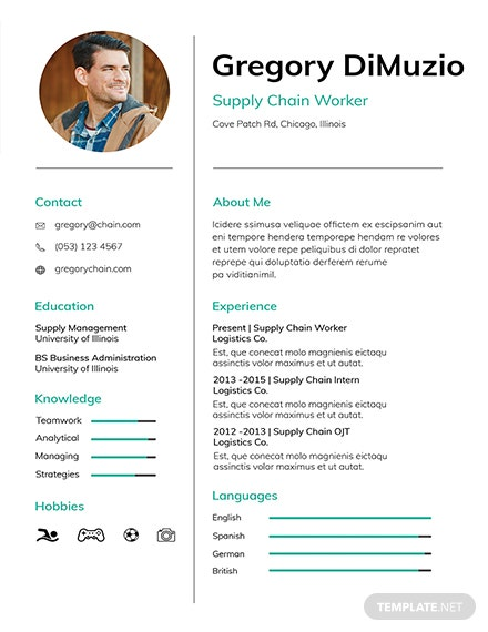 Free Supply Chain Resume Template