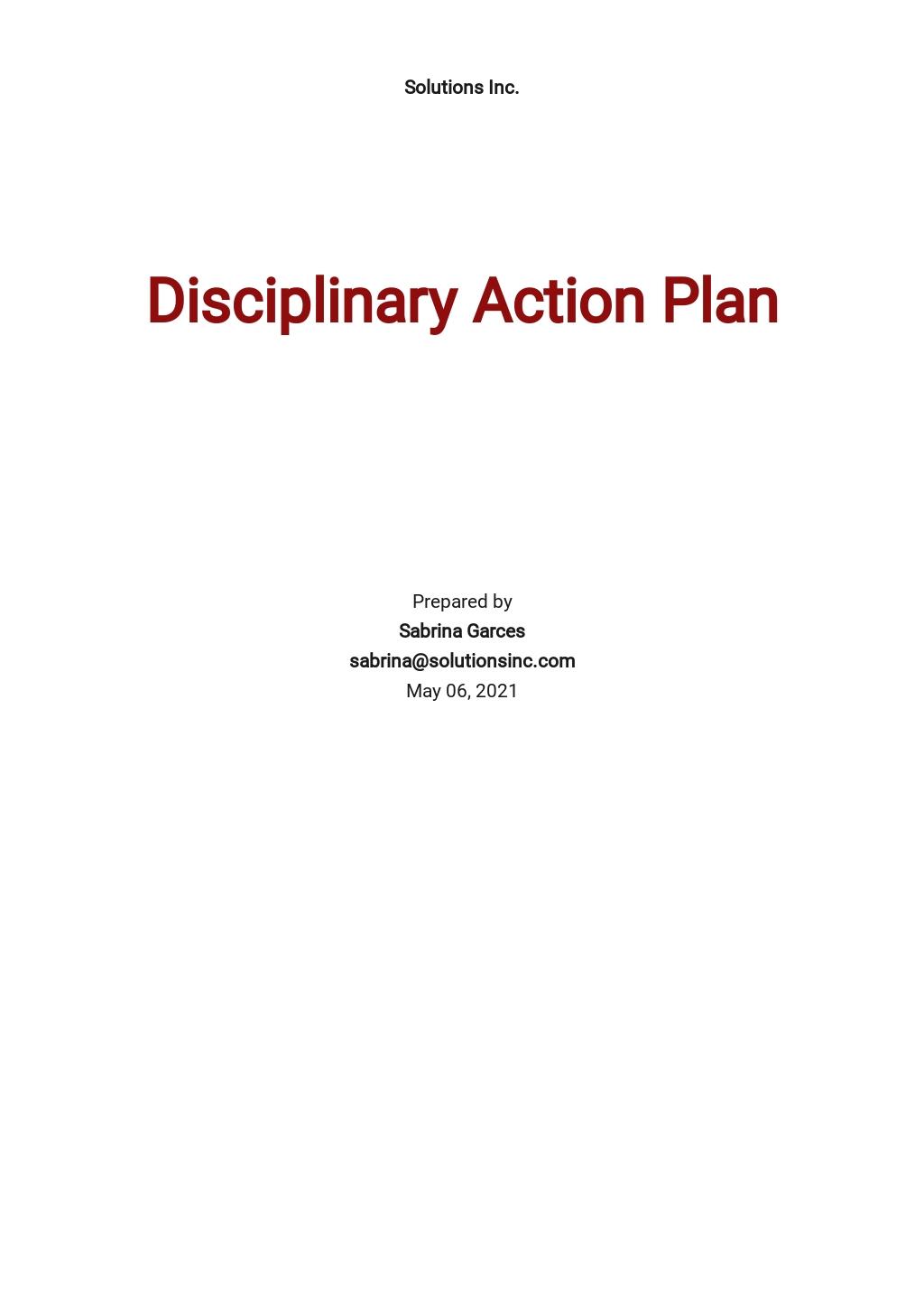 Disciplinary Action Plan Template.jpe