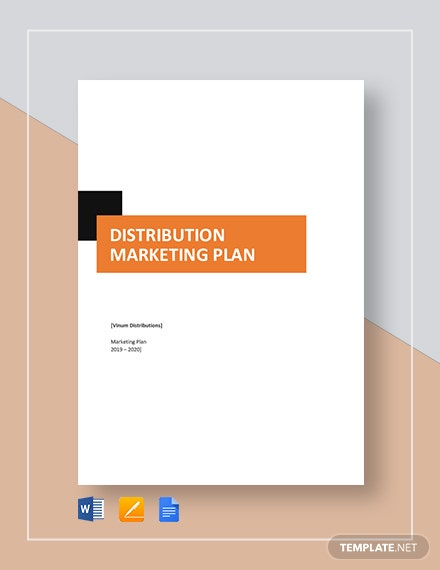 Distribution Marketing Plan Template