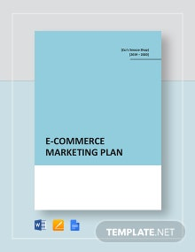 E-commerce Marketing Plan Template