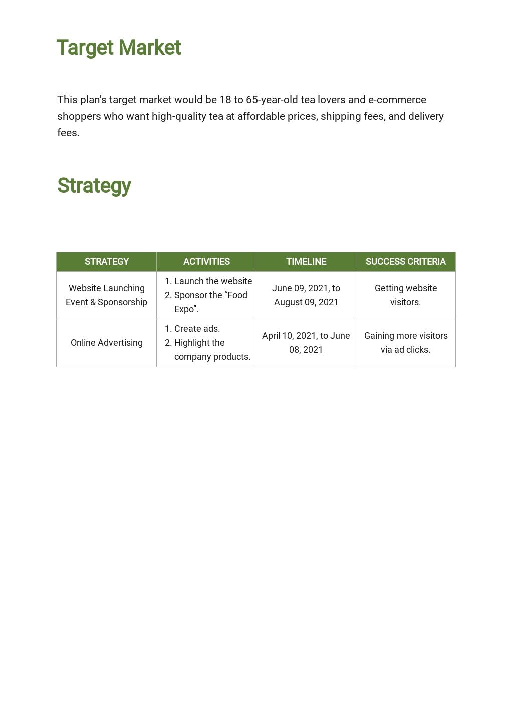 E commerce Marketing Plan Template 2.jpe