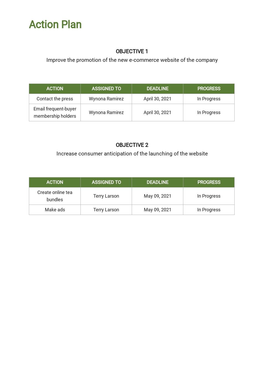 E commerce Marketing Plan Template 4.jpe