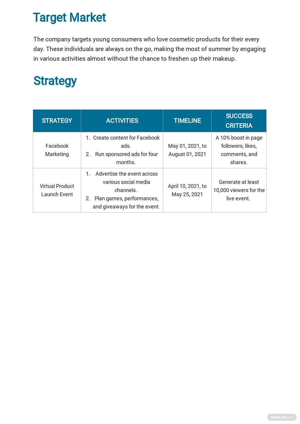 Facebook Marketing Plan Template 2.jpe
