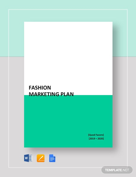 fashion marketing plan