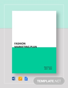 Fashion Marketing Plan Template