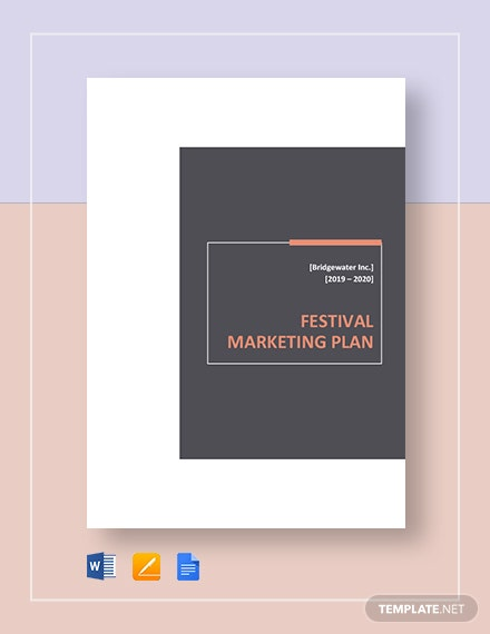 festival marketing plan