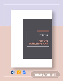 Festival Marketing Plan Template